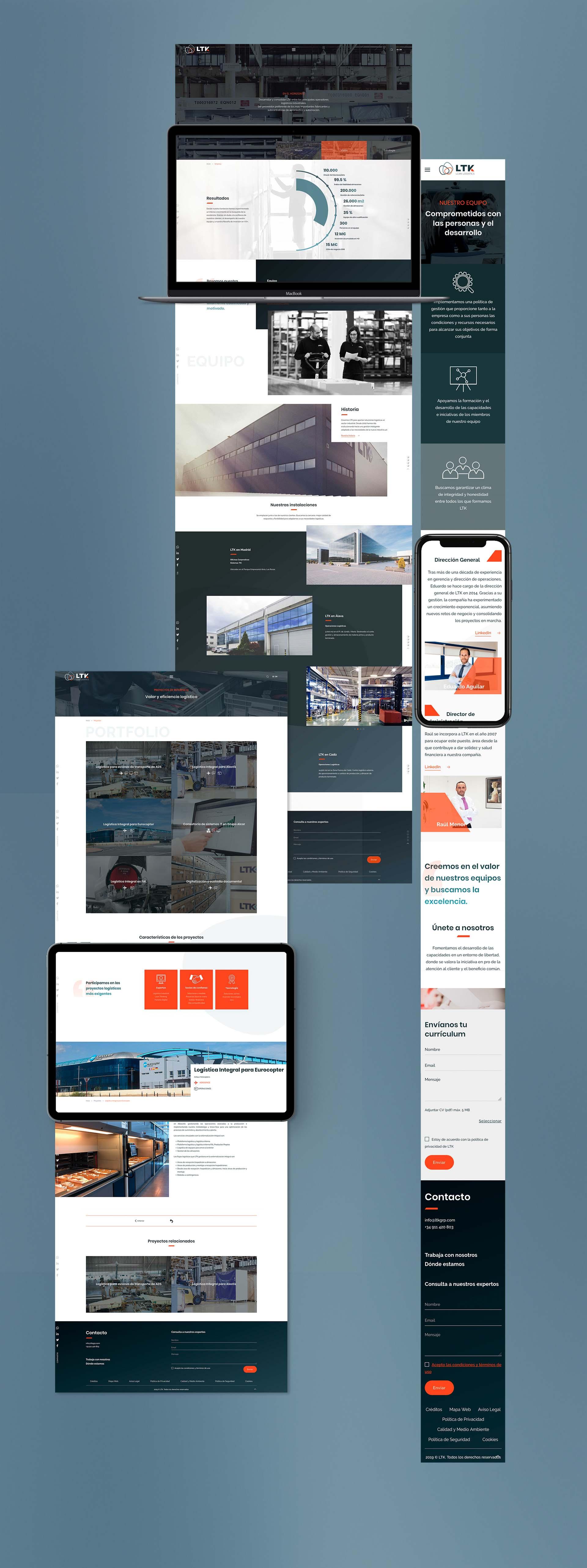 Web design for the logistics company LTK