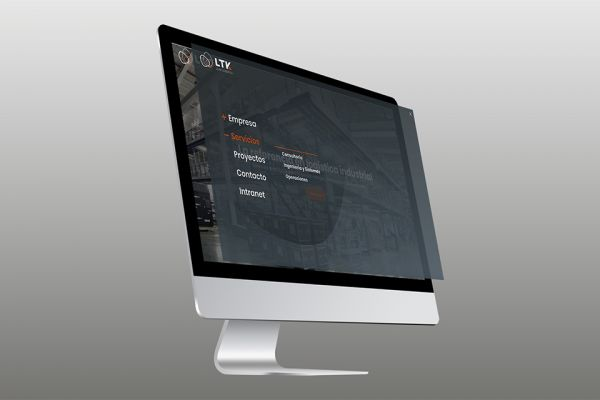 Web design for the logistics company LTK